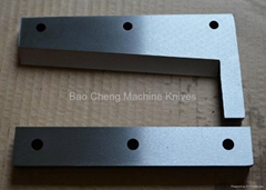 High Speed Steel Shear Scissor Blades For Leather/ Fabric/Rubber/plastic Cutting