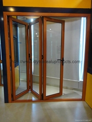Aluminum Alloy Frame Material and Garden doors Type window glazing