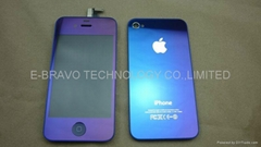 iphone4 Mirror amethyst LCD+digitizer assembly and backcover kit