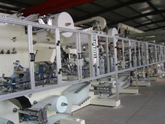 Pull up diaper machine