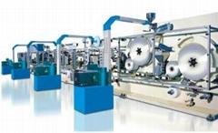 Women's hygiene products production equipment or sanitary napkin machine