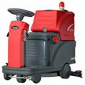 電瓶式駕駛式雙刷洗地機