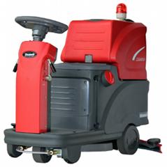 电瓶式驾驶式双刷洗地机