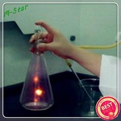 Quartz oxygen combustion flask