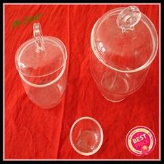 typical laboratory quartz glass crucible