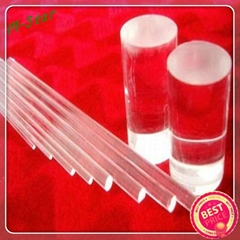 High quality clear quartz glass rod