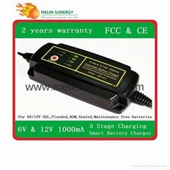 6v/12V smart car battery charger 1A