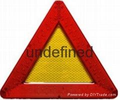 LED Mobile multifunction flashing warning triangle