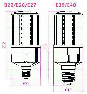 30W鰭片玉米燈 6