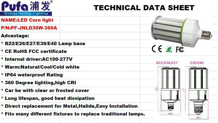 LED Corn Light 30w 3