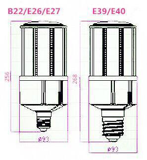 高亮led 玉米燈40W 9