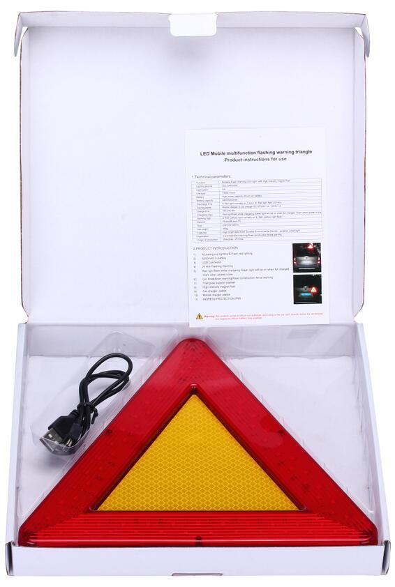 LED移動閃爍三角警示牌 6