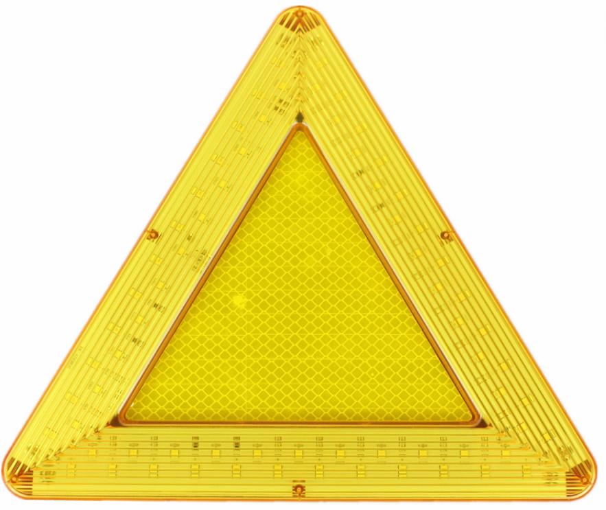 LED移動閃爍三角警示牌 2