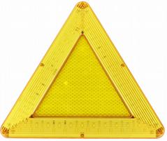 防水LED移動閃爍三角警示牌