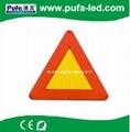 LED移動閃爍三角警示牌