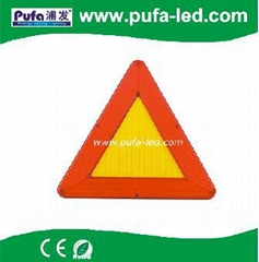 LED Mobile multifunction flashing warning triangle