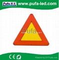 LED Flashing Warning Triangle