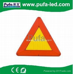 LED Flashing Warning Triangle