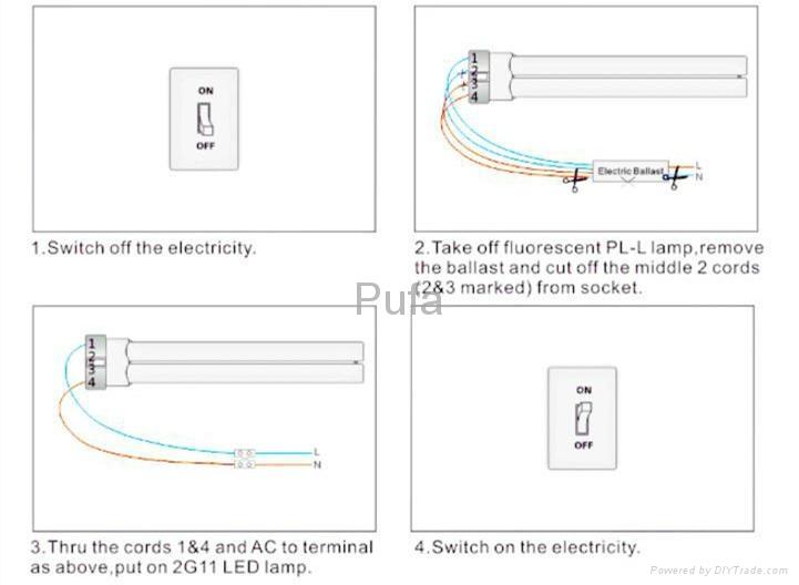 LED 2G11 橫插燈管26W 電源外置 4