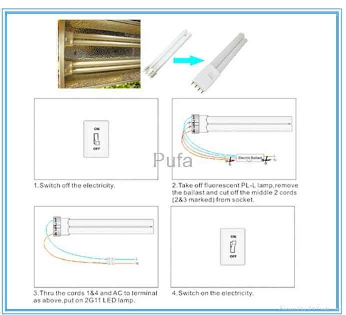 LED PLL Lamp 2G11 26W External LED Driver
