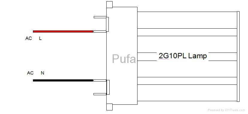2G10 LED橫插燈管 13W 2