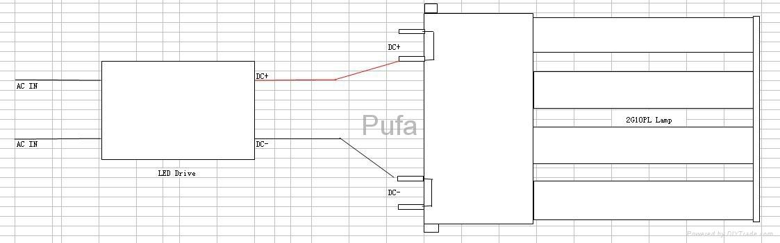 2G10 LED横插灯管 13W 3