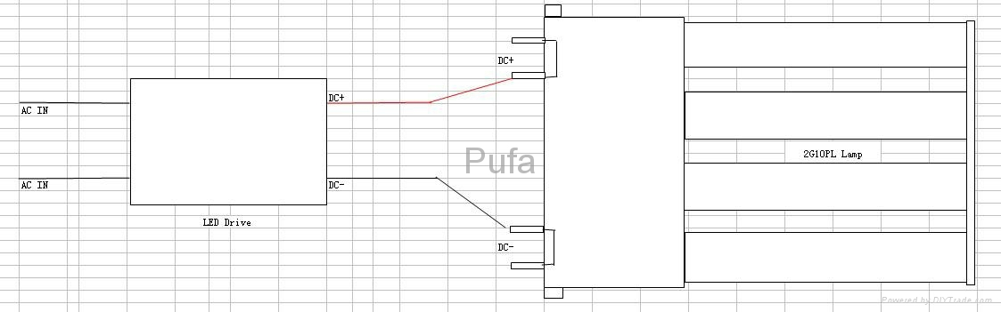 LED PLF Lamp 2G10 13W 3