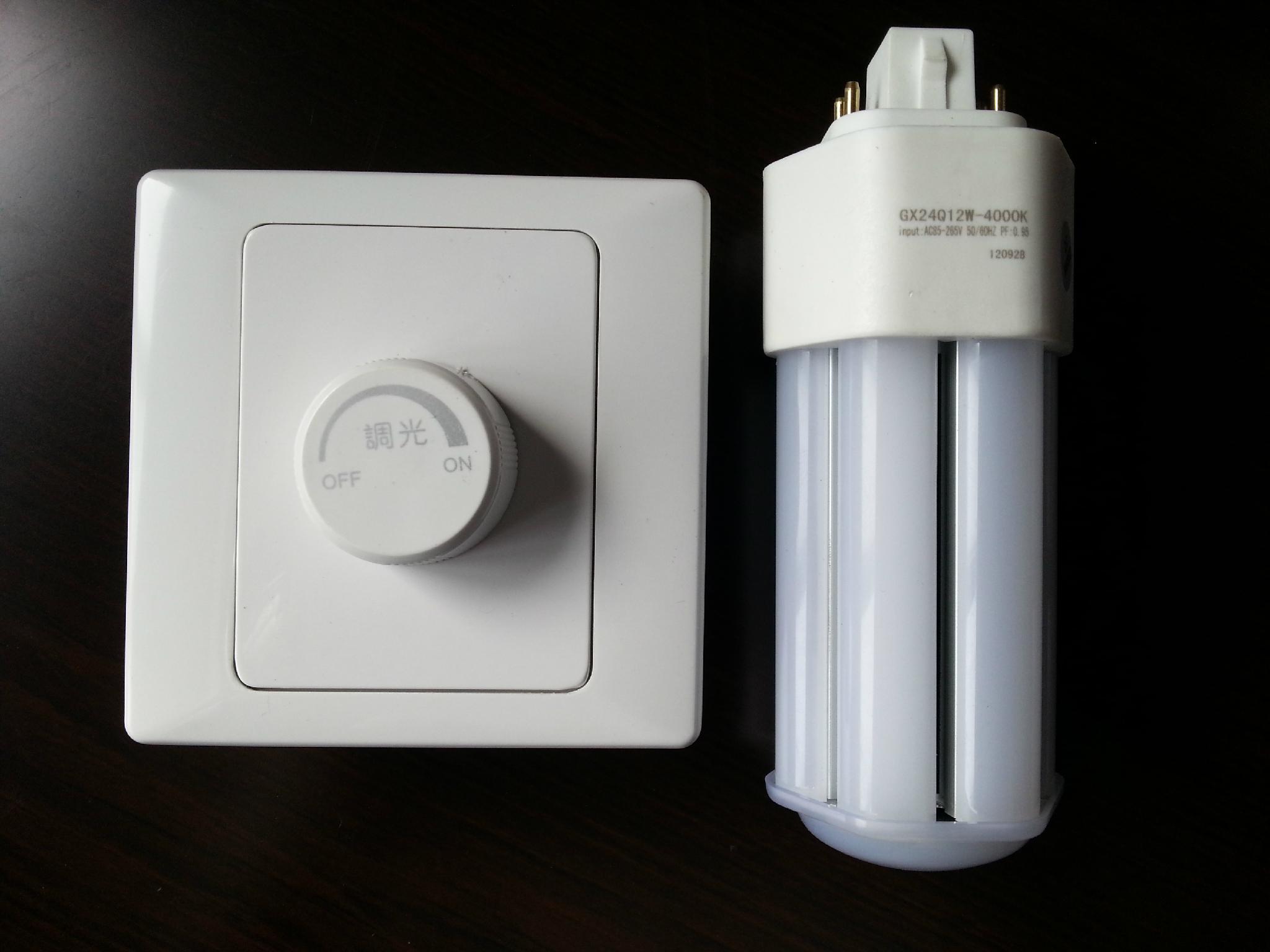 LED G24Q调光横插灯管11w 2