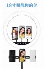 新款熱銷18寸led環形直播燈美顏手機拍照主播攝影補光燈設備