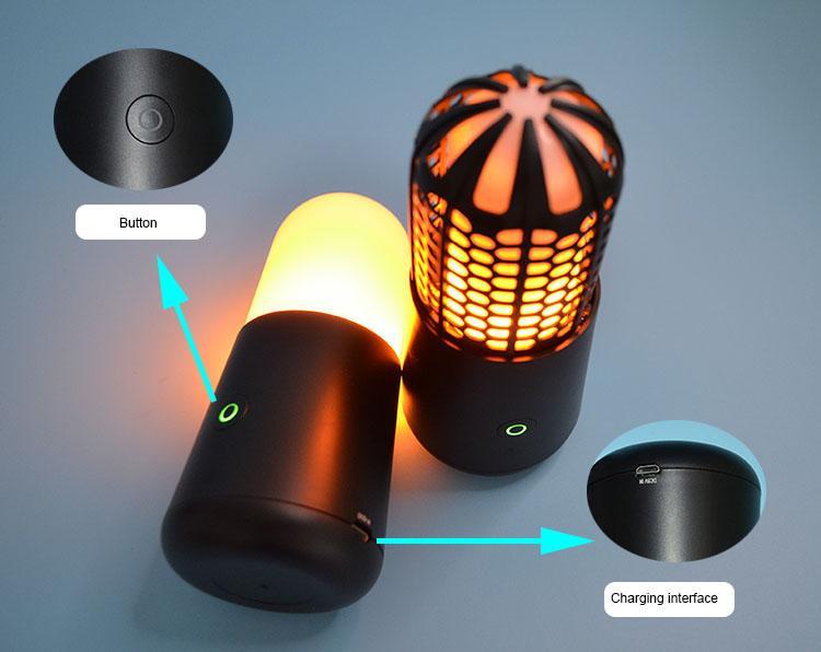 LED便攜火焰燈火把燈KTV酒吧婚慶戶外露營場所 3
