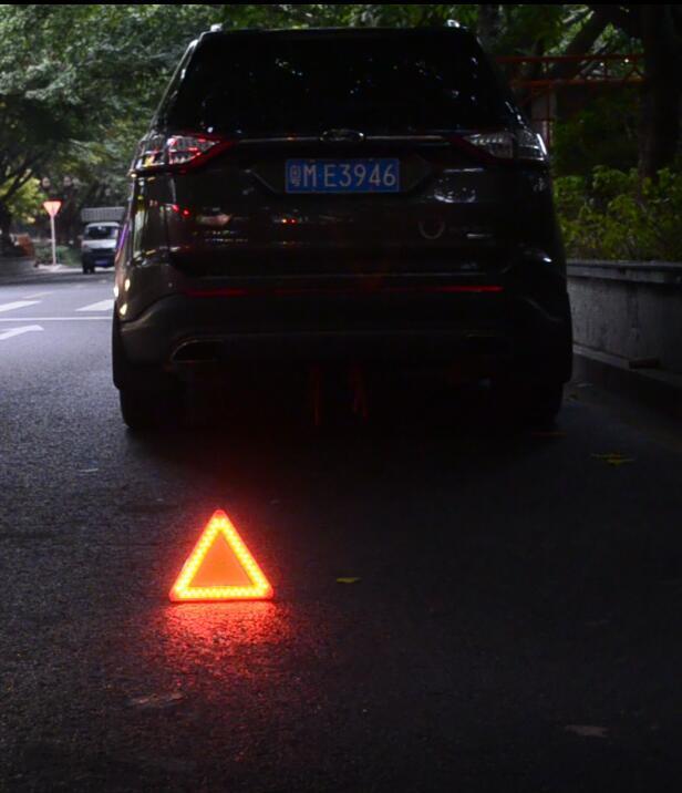 防水LED移動閃爍三角警示牌 11
