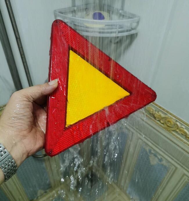 防水LED移動閃爍三角警示牌 7