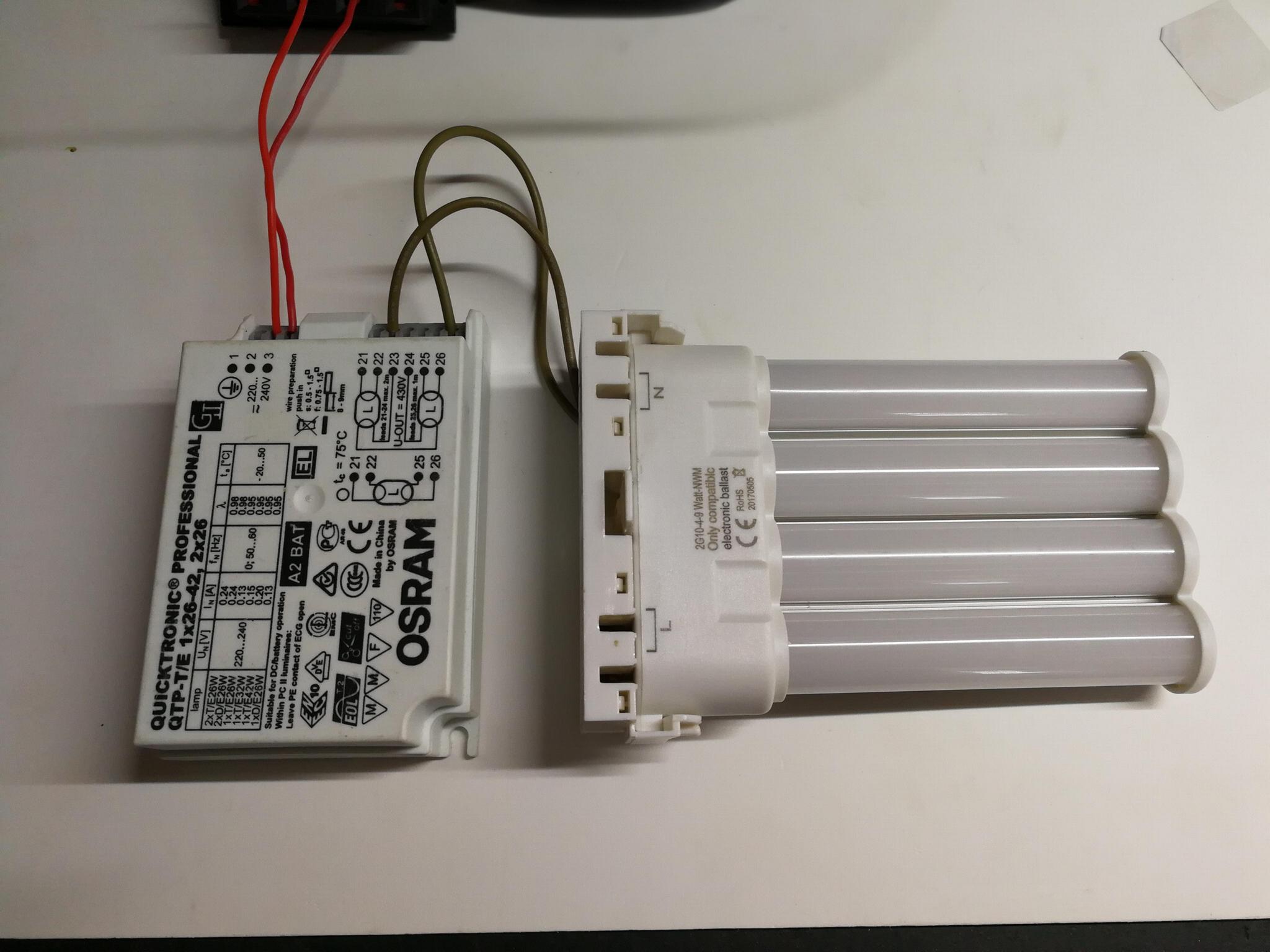 2G10 兼容电子镇流器横插灯管 9W 1