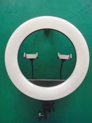 新款18寸led大光圈環形直播燈美顏手機拍照主播攝影補光燈設備
