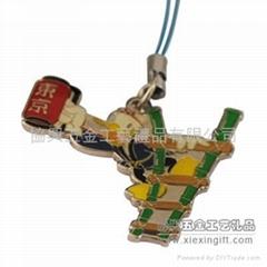 时尚金属手机吊牌