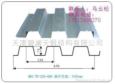 供應閉口樓承板YX65-185-555 3