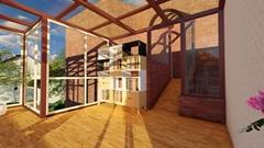 大连隔热阳光房设计 别墅断桥铝系统门窗