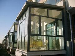 大连卓越阳光房  德国技术系统断桥铝门窗