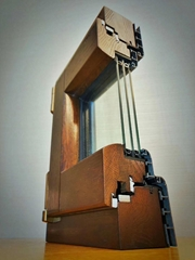 大连断桥铝门窗  铝包木门窗生产安装