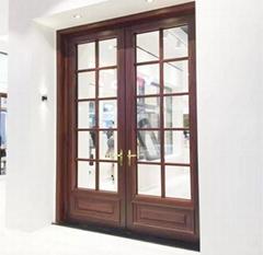 大连安装铝包木门窗 阳光房