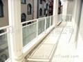 小区楼盘专用带玻璃铝合金阳台护