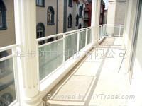 Aluminum guardrail, balcony railing, armrest profiles