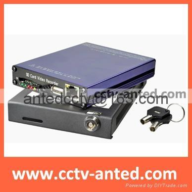 4Ch H.264 Real-time Recording Mobile DVR SD Card USB Back-up CCTV DVR Security  1