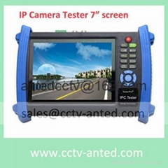 Handheld Onvif Pelco IP Camera Tester AHD monitor with 7 inch touch screen