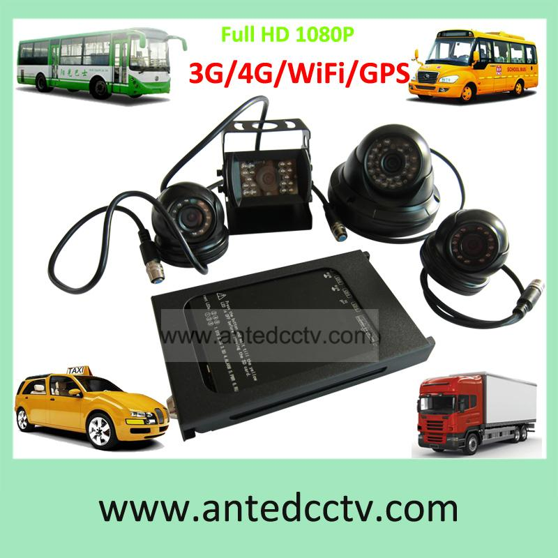 HD 1080P Mobile DVR Camera Systems 4 Channel  Vehicle Video Recorder for Car Bus 1