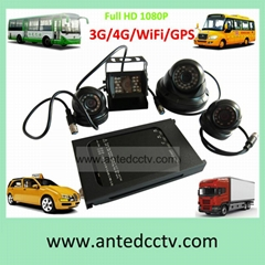 HD 1080P Mobile DVR Camera Systems 4 Channel  Vehicle Video Recorder for Car Bus