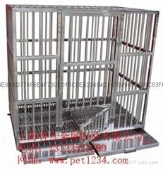 不锈钢狗笼(不锈钢宠物狗笼)