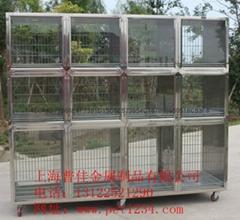 组合不锈钢宠物住院笼