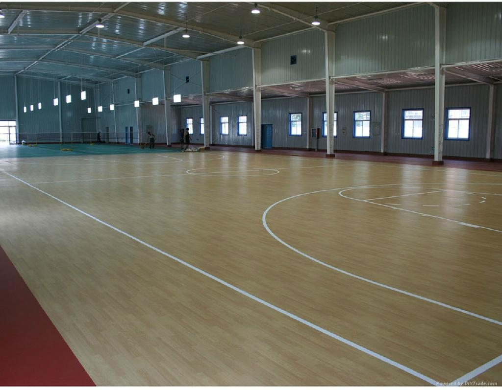 Wooden basketball sports floor mat hk5001 haokang for How wide is a basketball court
