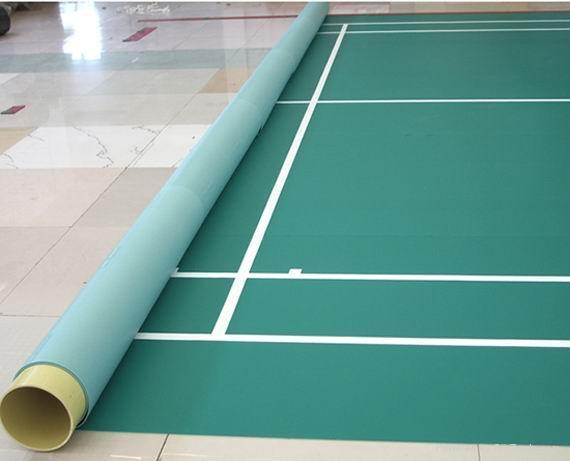 Bwf badminton sports flooring hk1 1002 haokang china for Sport court flooring cost